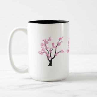 Plum Blossom Tree Two-Tone Coffee Mug