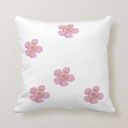 plum blossom ume kanji throw pillow