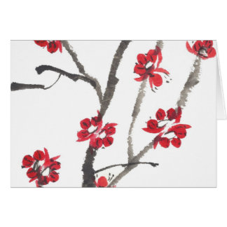 Plum Blossom Watercolor Card