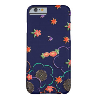 Plum blossoms and leaves barely there iPhone 6 case