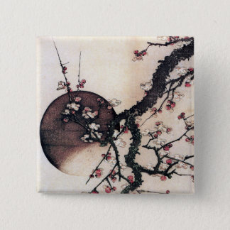 Plum Blossoms and the Moon, Hokusai Button