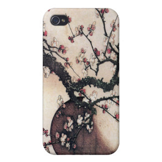 Plum Blossoms and the Moon, Hokusai iPhone 4 Cover