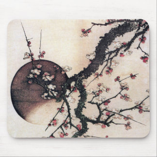 Plum Blossoms and the Moon, Hokusai Mousepads