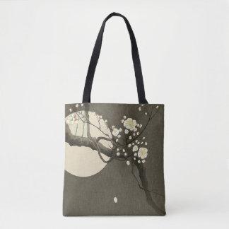 Plum Blossoms at Night by Ohara Koson Elegant Tote Bag