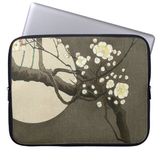Plum Blossoms at Night by Ohara Koson Vintage Computer Sleeve