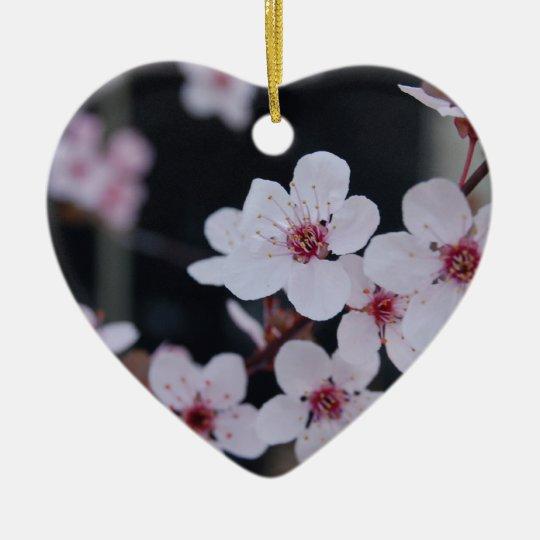 Plum Blossoms Ceramic Ornament