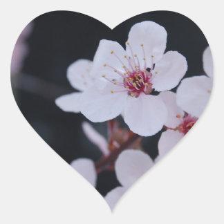 Plum Blossoms Heart Sticker