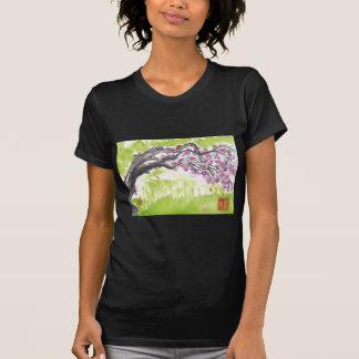 Plum Blossoms in Green Tshirt
