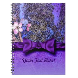 Plum Blossoms Purple Ribbon Notebooks