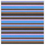 [ Thumbnail: Plum, Blue, Brown, and Black Pattern Fabric ]