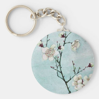 Plum branches with blossoms Ukiyo-e. Keychains