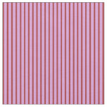 [ Thumbnail: Plum & Brown Lined Pattern Fabric ]