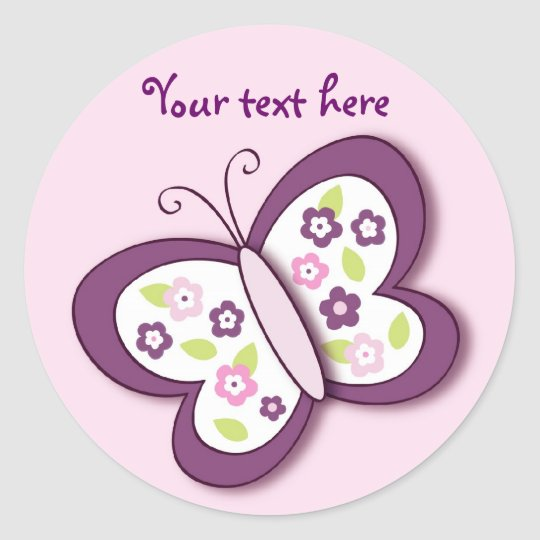 Plum Butterfly Stickers Envelope Seals