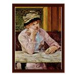 Plum By Manet Edouard Postcards