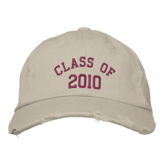 Plum Class of 2010 Embroidered Hat