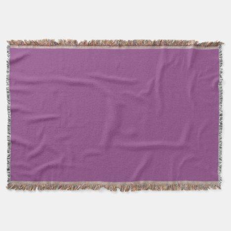 Plum-Colored Throw Blanket