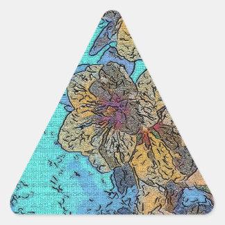 Plum Crazy 2 Triangle Sticker