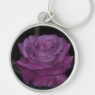 Plum Crazy Rose Keychain