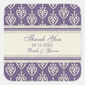 Plum Cream Floral Thank You Wedding Favor Tags