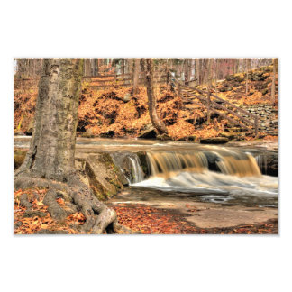 Plum Creek Falls, Olmstead Falls, Ohio Photo Print