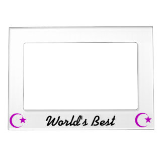 Plum Crescent & Star.png Magnetic Frame
