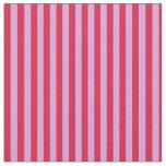[ Thumbnail: Plum & Crimson Colored Stripes Pattern Fabric ]