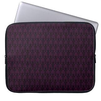 Plum Damask Laptop Sleeve