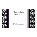 Plum Damask Wedding Table Place Setting Cards