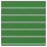 [ Thumbnail: Plum & Dark Green Colored Lined/Striped Pattern Fabric ]