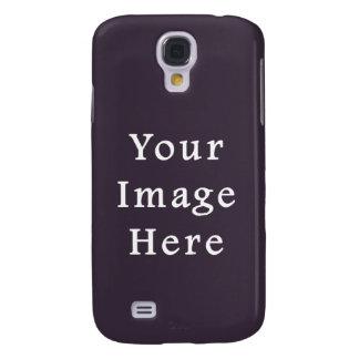 Plum Dark Purple Color Trend Blank Template Galaxy S4 Cover