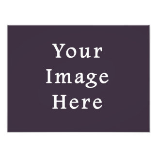 Plum Dark Purple Color Trend Blank Template Photo Art