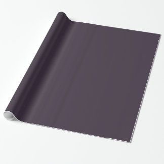 Plum Dark Purple Solid Trend Color Background Gift Wrap