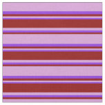 [ Thumbnail: Plum, Dark Red, and Purple Colored Lines Fabric ]