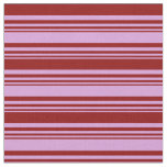 [ Thumbnail: Plum & Dark Red Colored Stripes Fabric ]