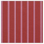 [ Thumbnail: Plum & Dark Red Pattern of Stripes Fabric ]