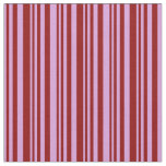 [ Thumbnail: Plum & Dark Red Stripes Pattern Fabric ]