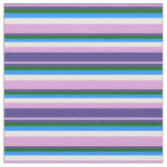 [ Thumbnail: Plum, Dark Slate Blue, Dark Green, Blue & White Fabric ]