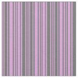 [ Thumbnail: Plum & Dim Gray Stripes Fabric ]