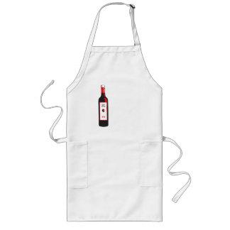 Plum drunk long apron