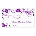 plum elegance business card template