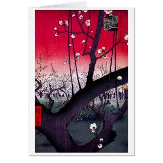 Plum Estate Kameido Hiroshige Ando Card