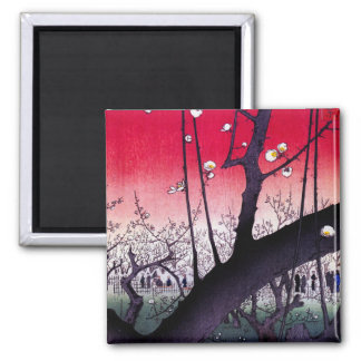 Plum Estate Kameido, Hiroshige Ando Magnet