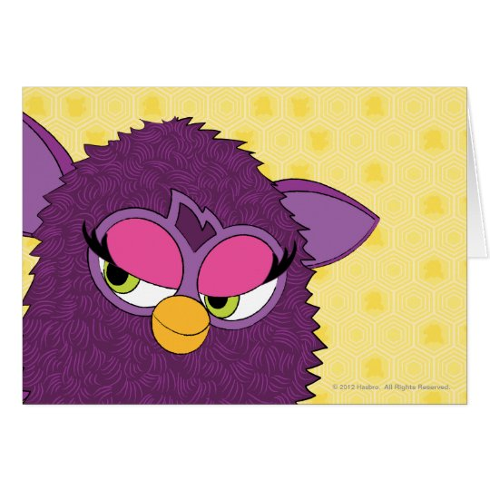 Plum Fairy Furby Card