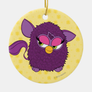 Plum Fairy Furby Double-Sided Ceramic Round Christmas Ornament