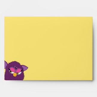 Plum Fairy Furby Envelopes