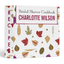Plum Fall Leaves Fall wedding  Recipe Folder