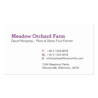 Plum farmer / grower business cards