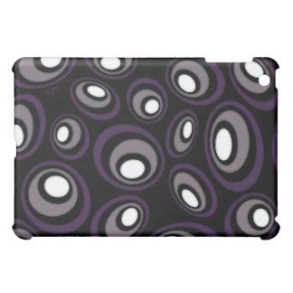 Plum & Fawn Offset Retro Ovals iPad Mini Cases