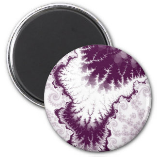 Plum Feathered Star Magnet