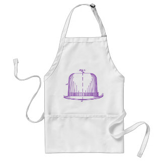 Plum Felt Hat from Patent Illustration Adult Apron
